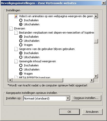Act! for Web v18 klembord en slepen IE instellen